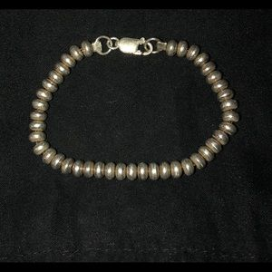 Jewelry - Sterling Silver Beaded Clasp Bracelet